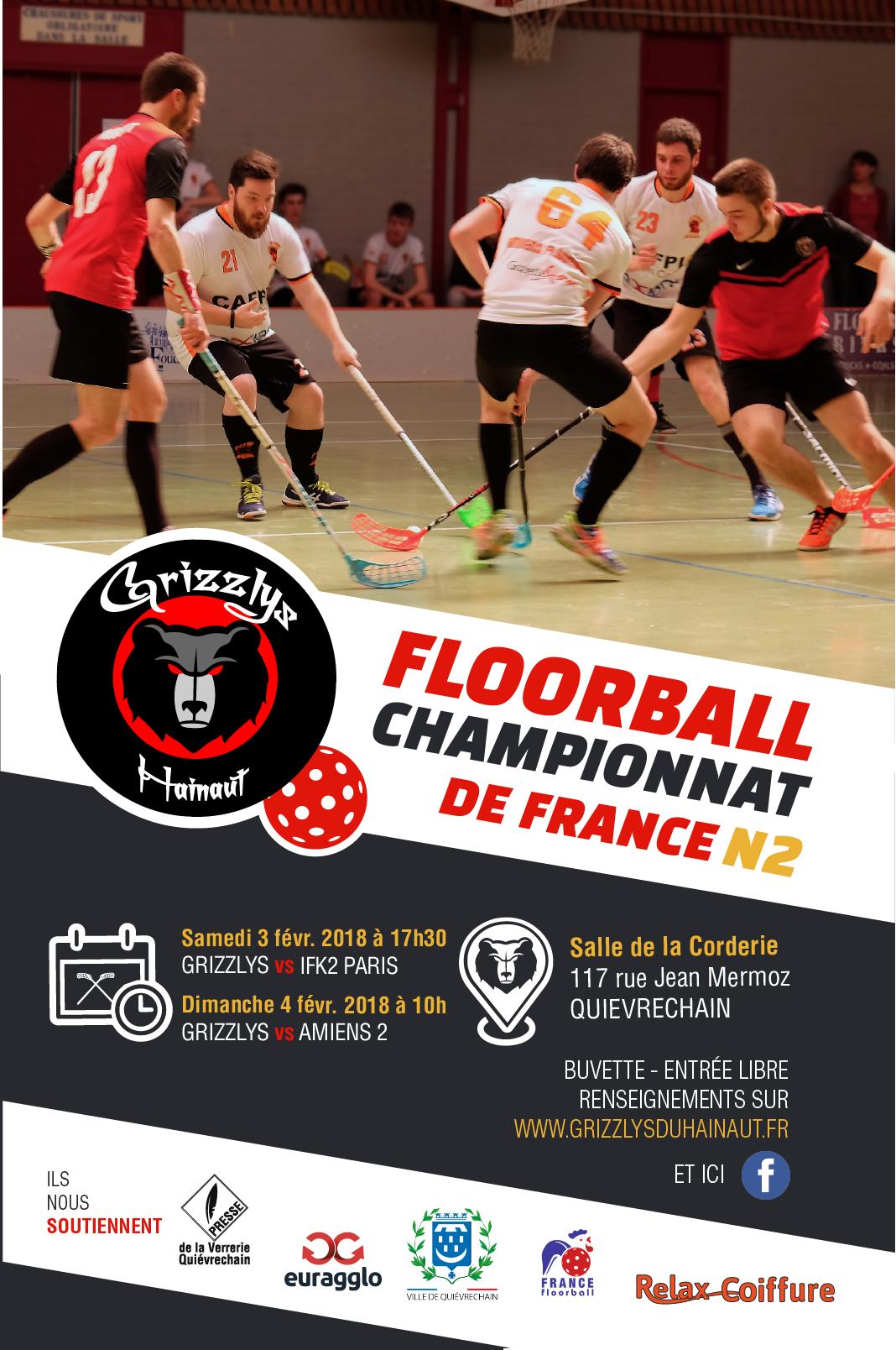 Championnat de France N2 - AFFICHE 2018